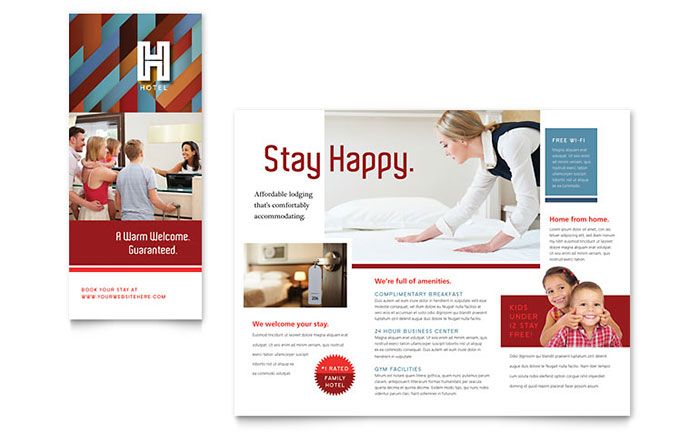 Hotel Brochure Template Word & Publisher