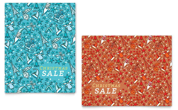 Christmas Confetti Sale Poster Template Word Amp Publisher