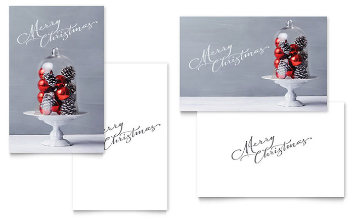 Christmas Display Greeting Card Template Word Amp Publisher