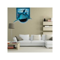 Shark Wall Decals in 3D - 5139 - Shark sticker 3 D wall...