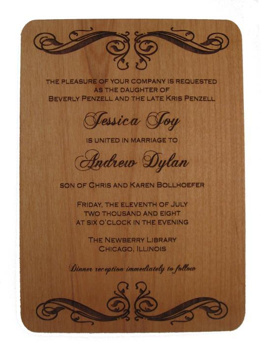 Engraved Wedding Invitations On Elegant
