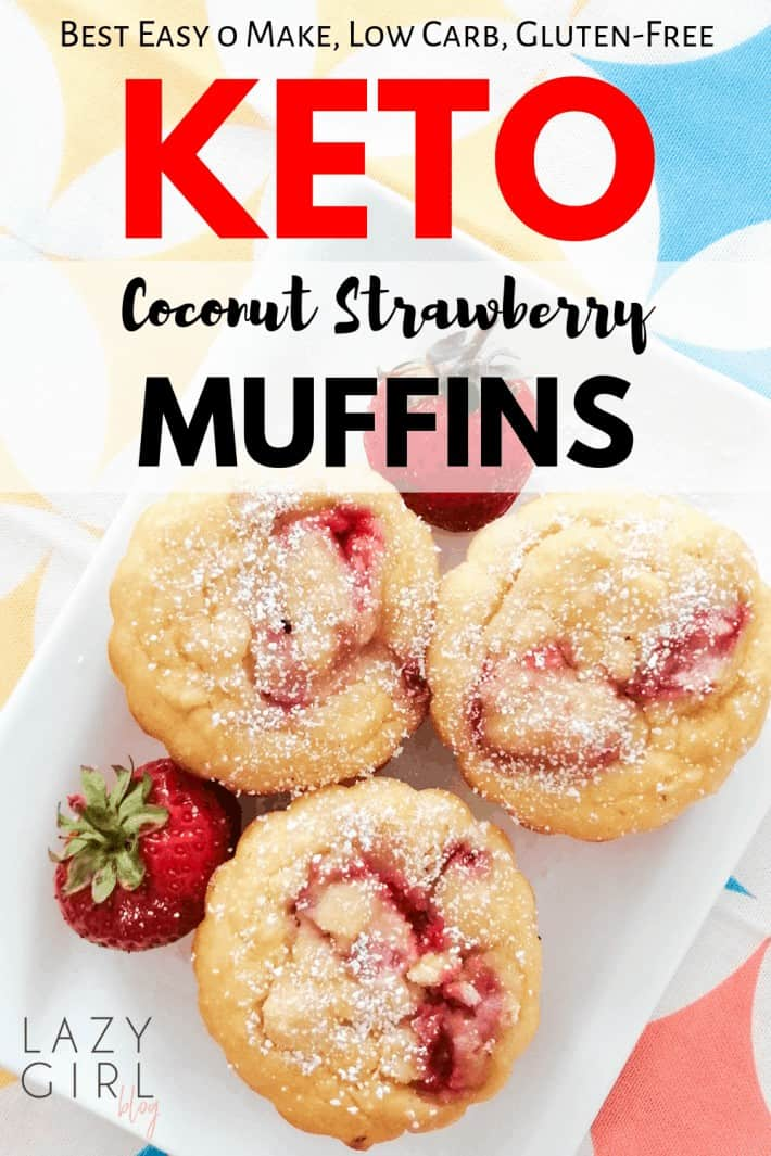 Best Keto Coconut Strawberry Muffins