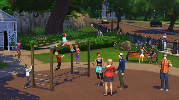 Sims in the park