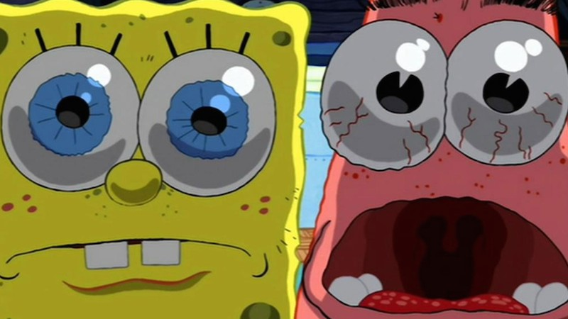 Funny Spongebob and Patrick Surprised Face Wallpaper