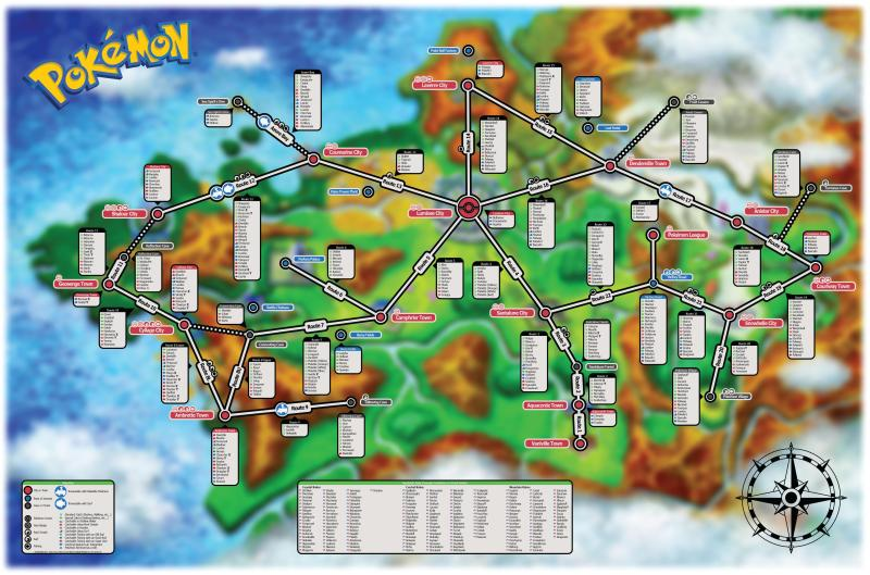 pokemap x and y
