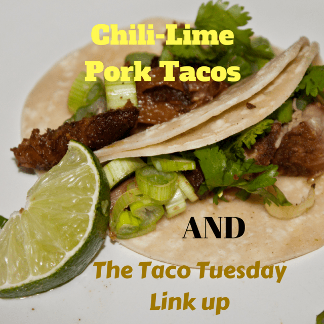 It's taco tuesday! Here is a chili-lime pork taco and a place for you to share more great taco inspired ideas! Check it out!