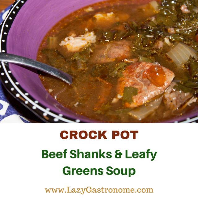 This hardy soup is perfect for a week night- just put it in the crock pot, go to work and it's done when you get home! Add some hot garlic bread and it is simply delicious!
