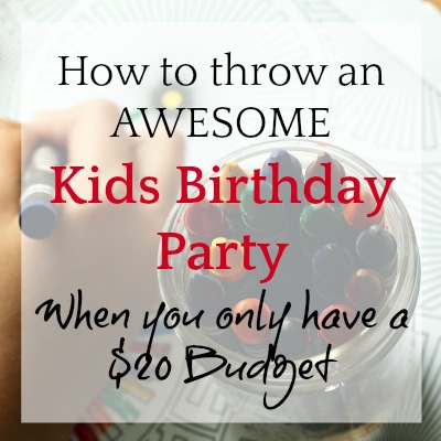 Low Cost Birthday Party Ideas