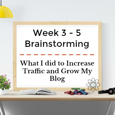 Week 3-5 Challenge to Increase My Pageviews