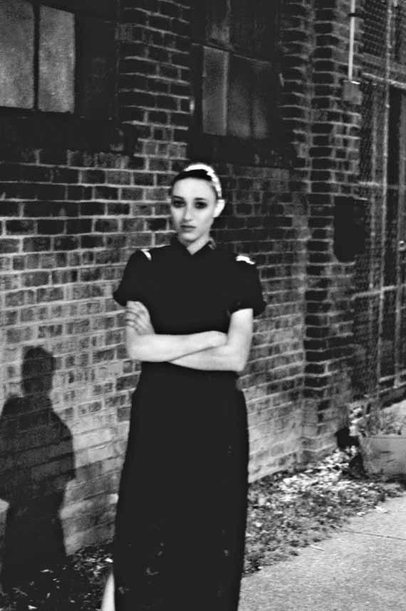 black and white fashin portrait