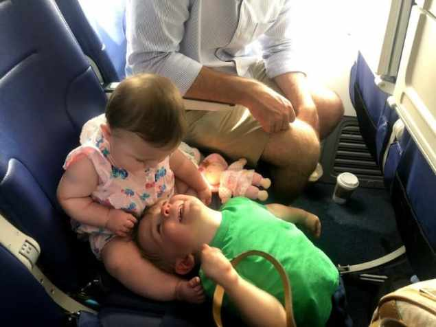 Flying with a baby and a toddler