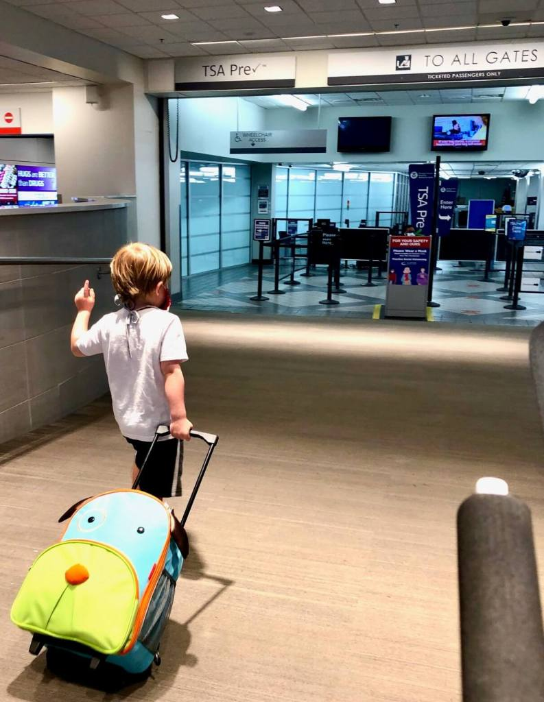 air travel with kids during a pandemic