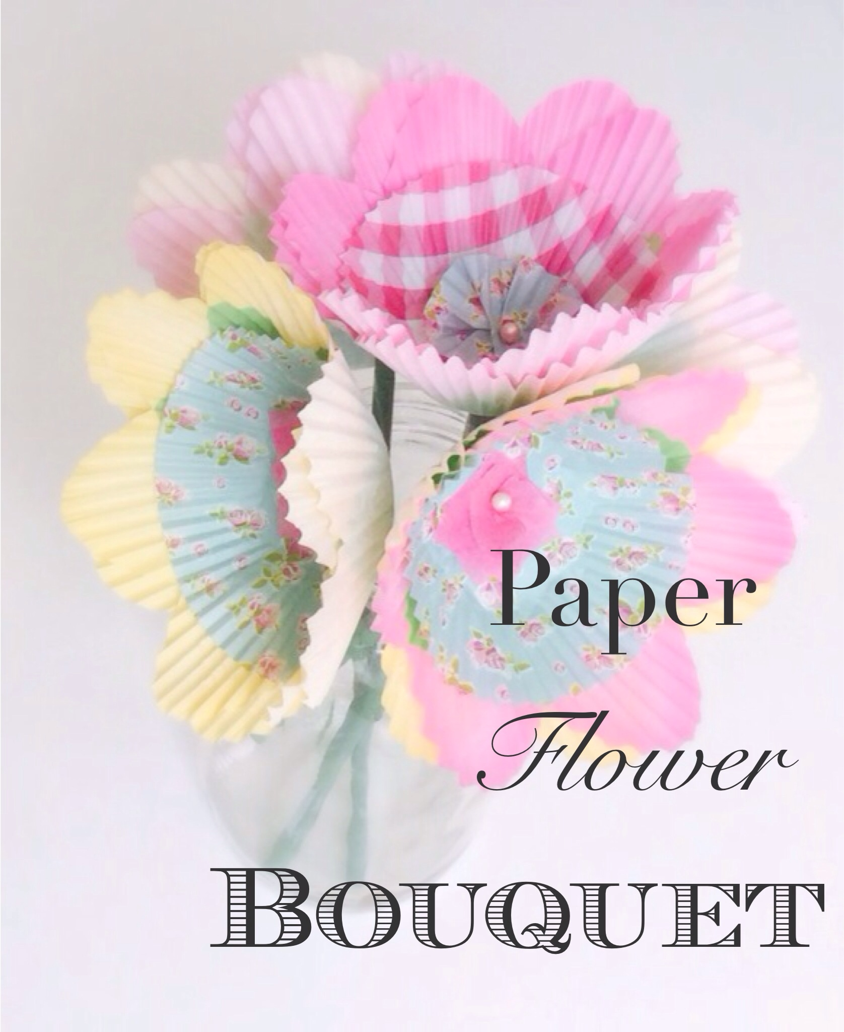 Paper Flower Bouquet Lazy Moms Blog