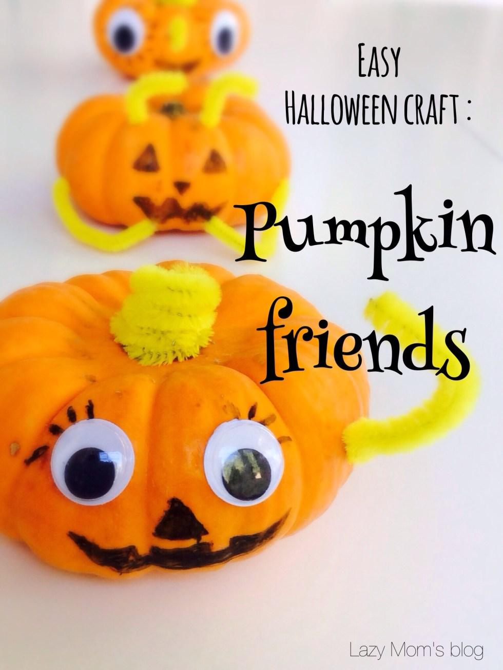 Three pumpkin friends