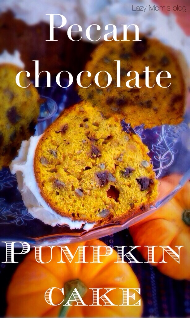 Pecan chocolate pumpkin cake