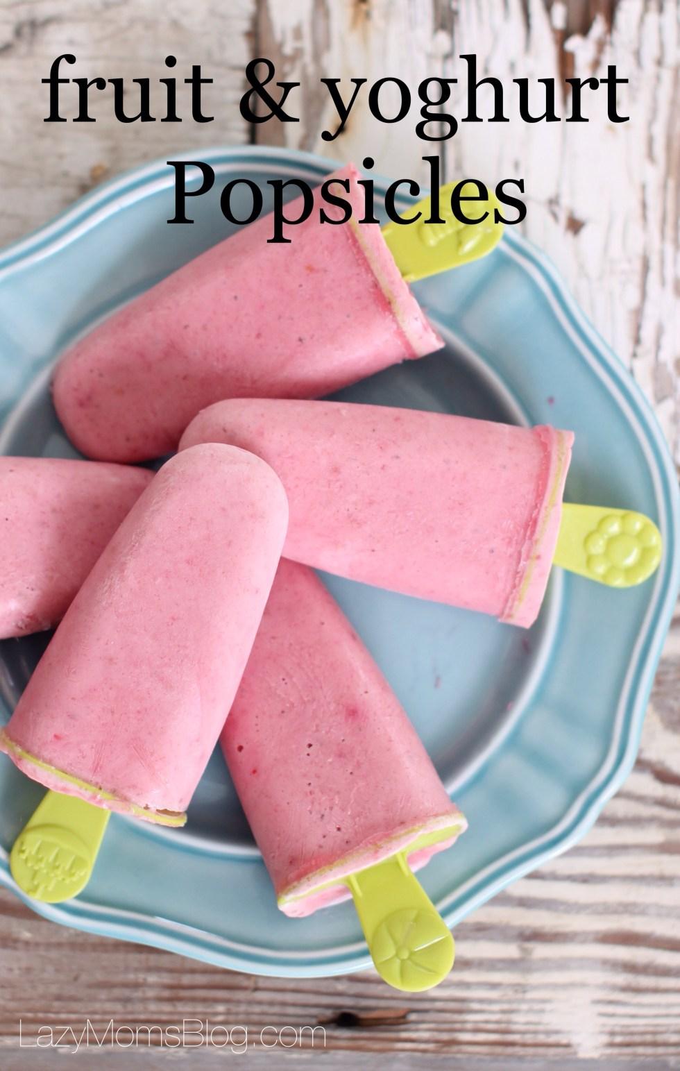 Fruit & yoghurt healthy Popsicles