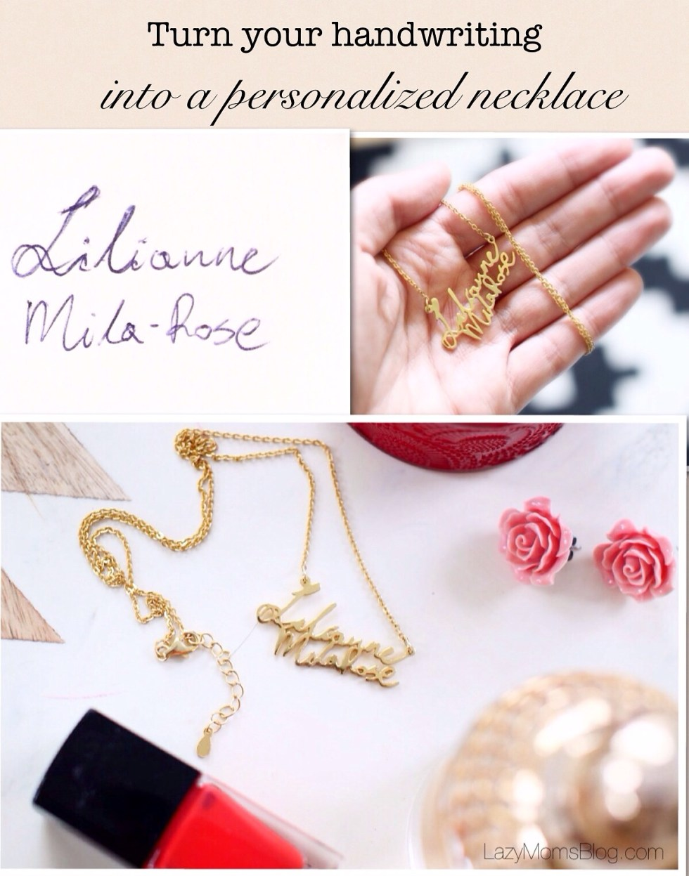 How to turn your handwriting into a personalized necklace
