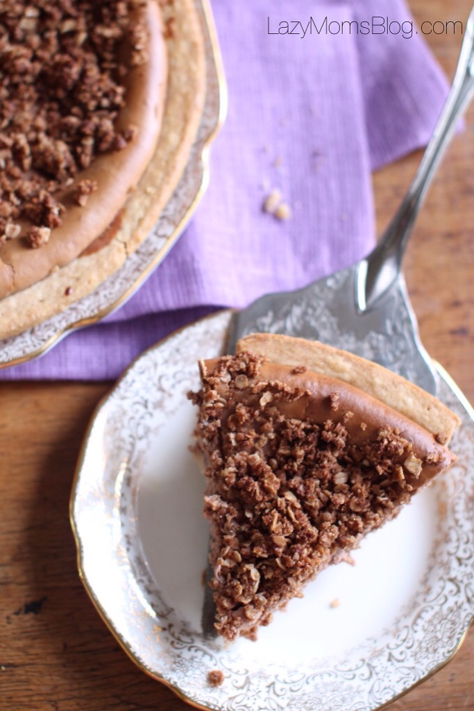 This easy to make chocolate cheesecake crumble, is so delicious !