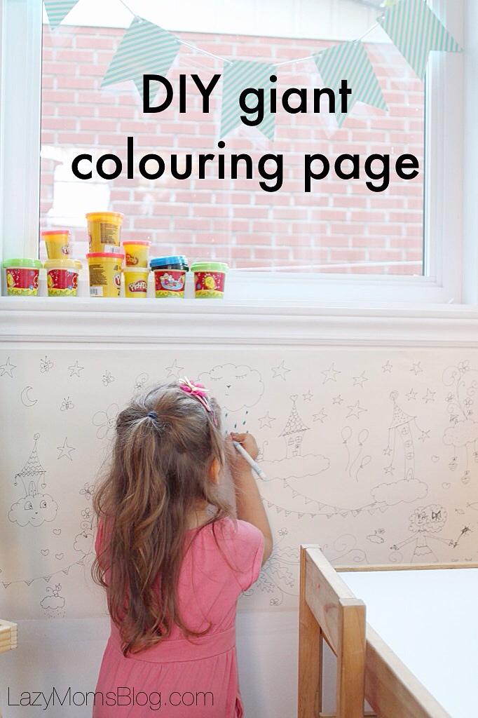 Make these DIY giant colouring pages with your kids and keep them occupied on a rainy day