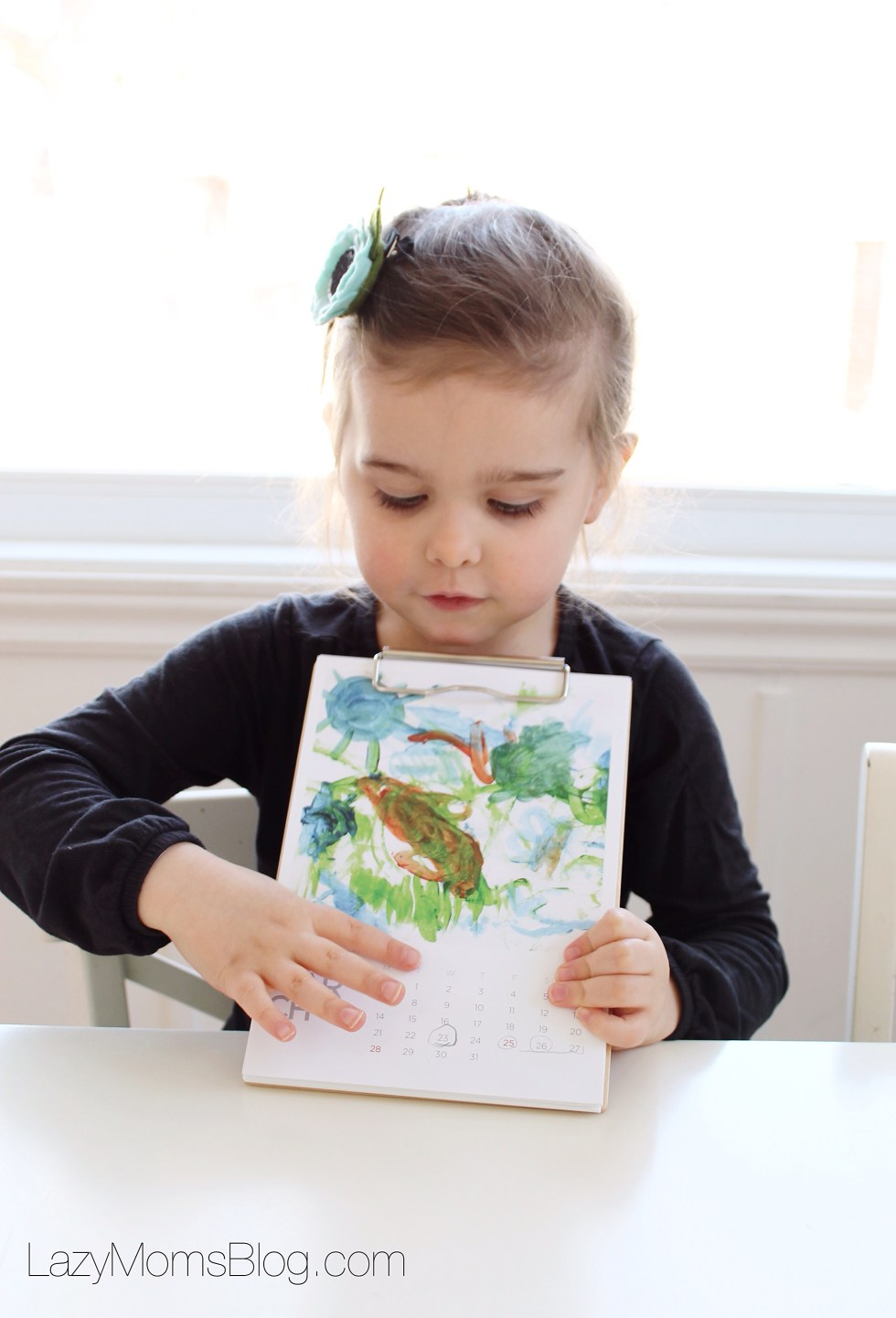 Teach kids about the months of the year with art #preschool