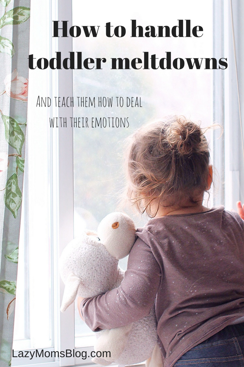 Great advice from a mom who've been there! How to handle toddler meltdowns and how to teach kids to handle their emotions!