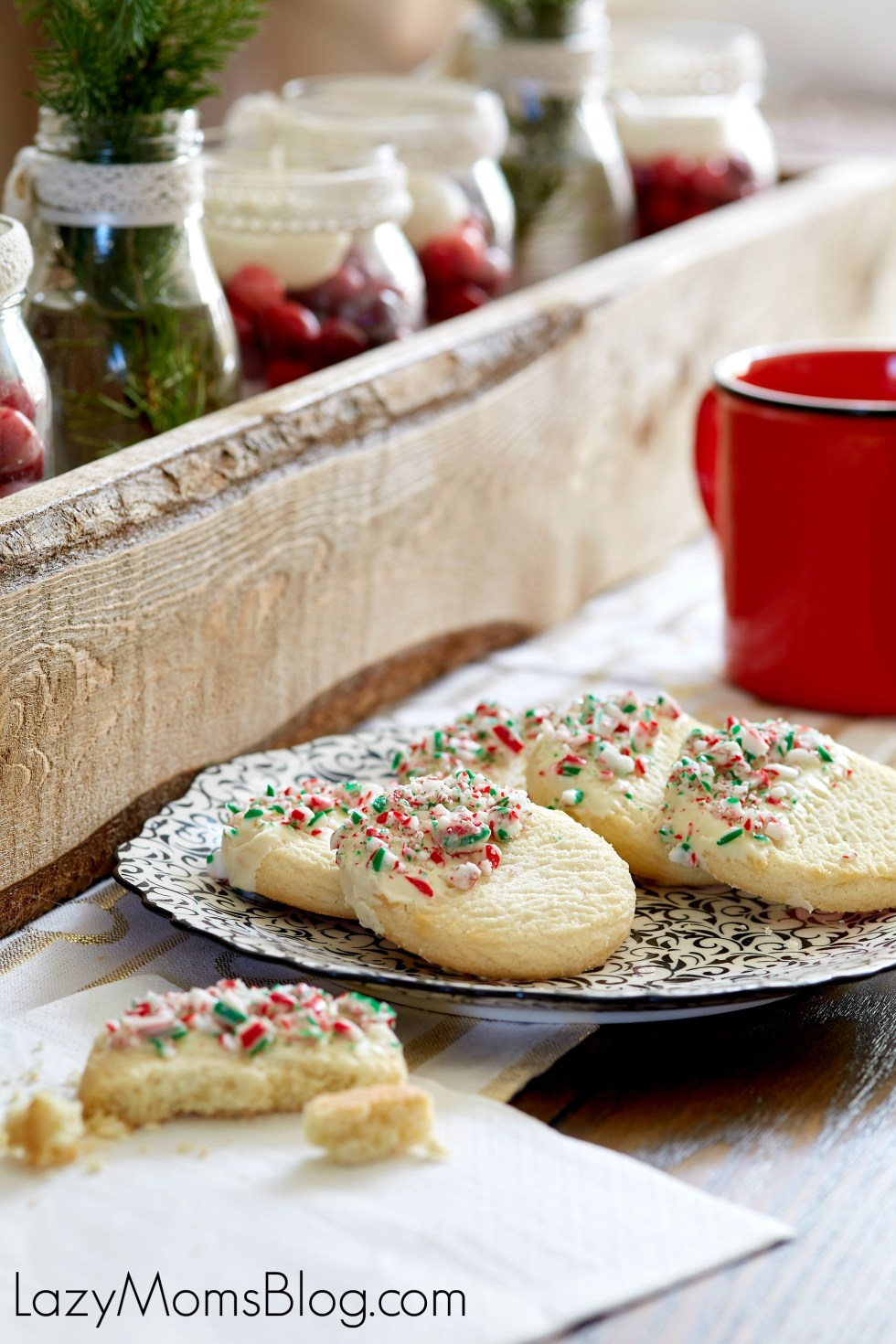 Peppermint and white chocolate sugar cookie