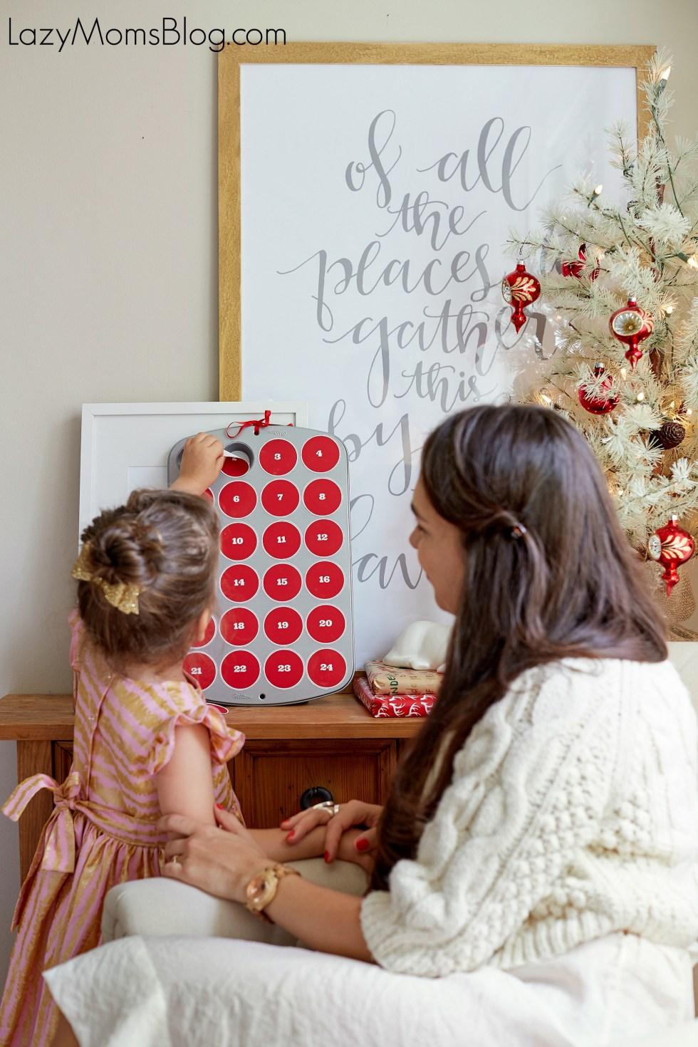 easy DIY advent calendar , and a free printable