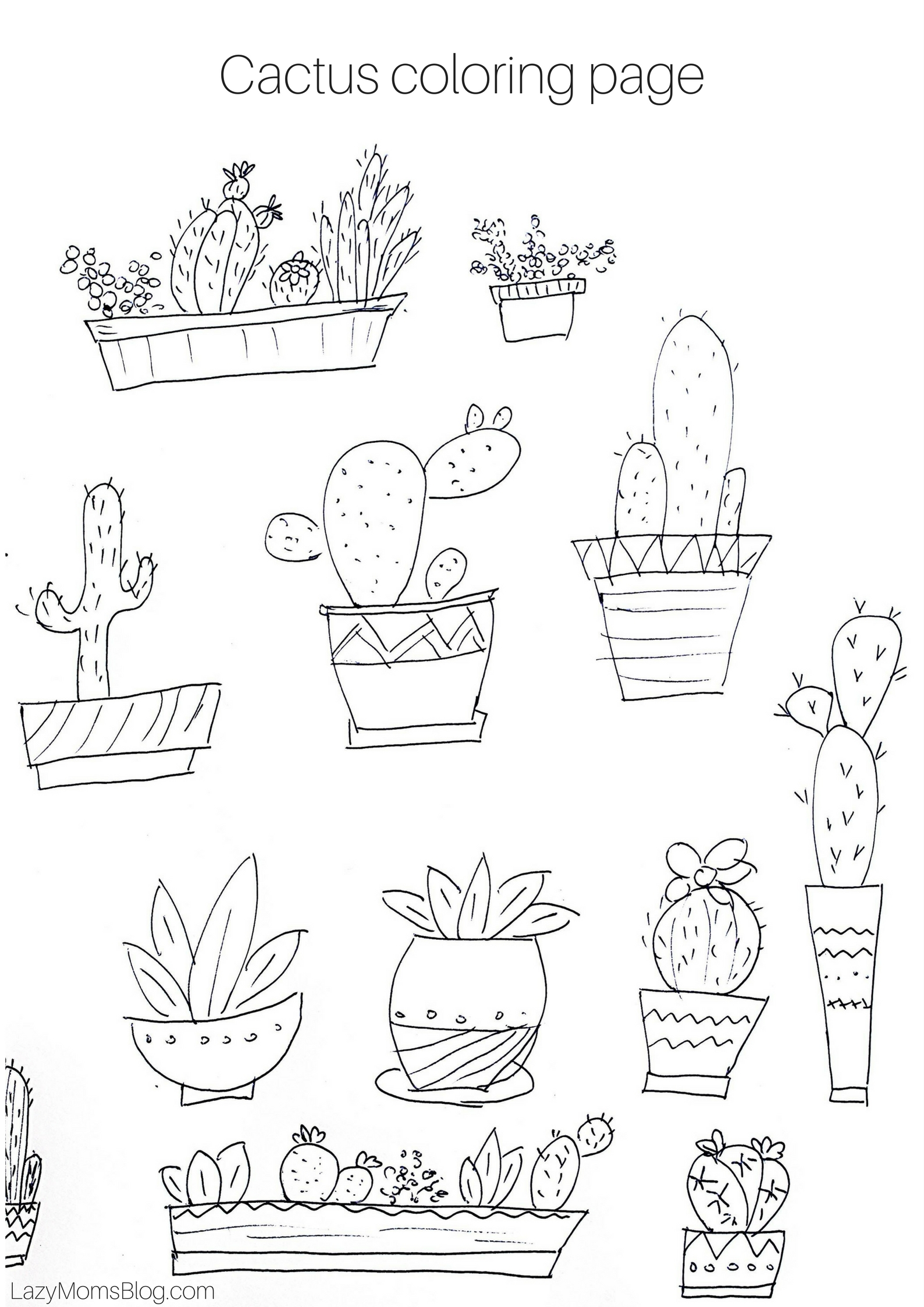cactus coloring page 28 images cactus coloring pages and print