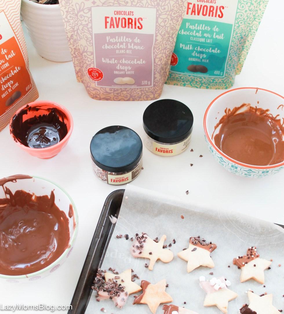 Chocolate dipped sugar cookies