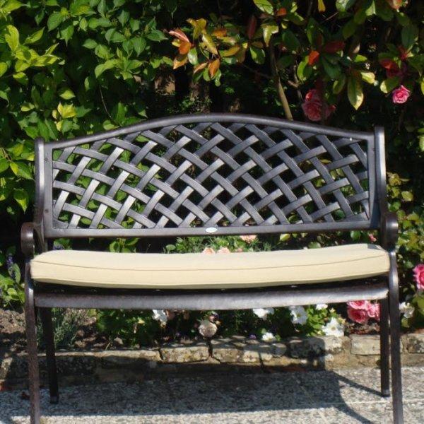 jasmine bronze ancien banc de jardin en aluminium