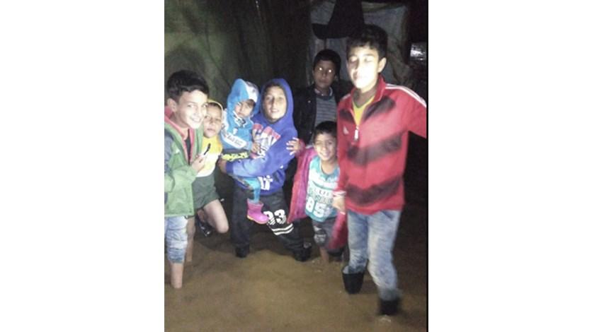 مياه الامطار والسيول دخلت إلى 4 مخيمات للاجئين في سهل عكار
