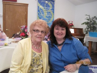 Judy with her daughter-in-law Connie
