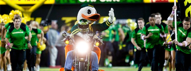 Oregon Duck on Harley