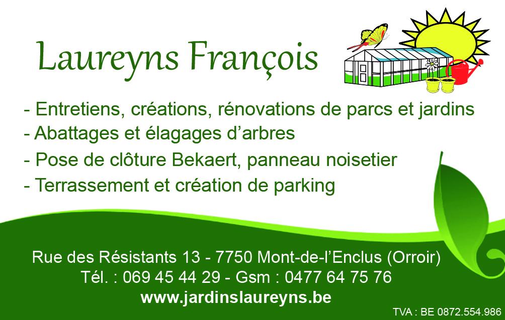 Carte de visite : Laureyns François