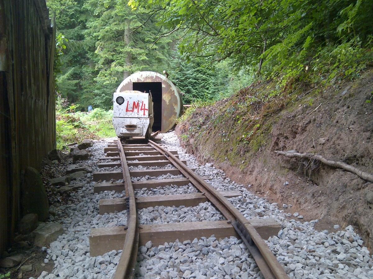 WR8 locomotive on back siding
