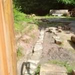 Retaining wall at Lea Bailey