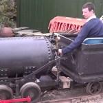 Issing Sid in Minffordd yard