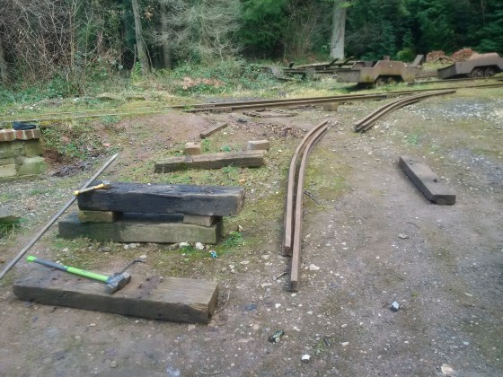 Temporary track dismantled