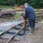Curve relaid on new sleepers