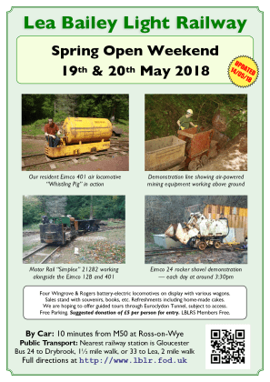 Flyer for 1028 Spring Open Weekend