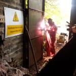 Mine door repairs — welding