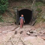 Miner coming out of the mine