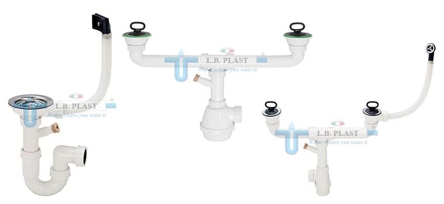 Plumbing Kit For Kitchen Sink Drain LB Plast Srl