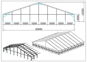 schéma chapiteaux 40 mètres