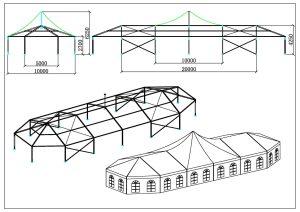 schéma chapiteaux partie pic 10 mètres