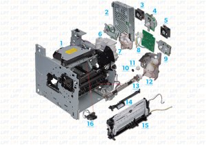 Parts Diagram 2 for LaserJet P4015, P4014, P4515