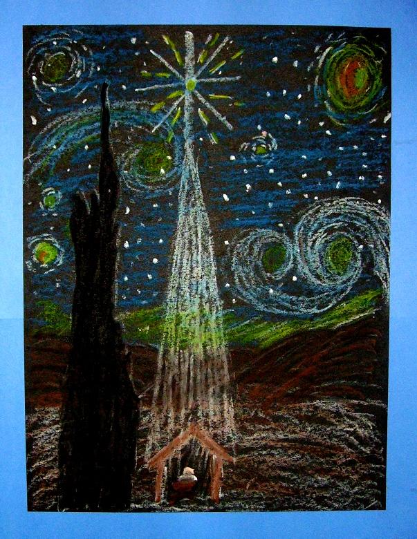 starry night in bethlehem kids glitter