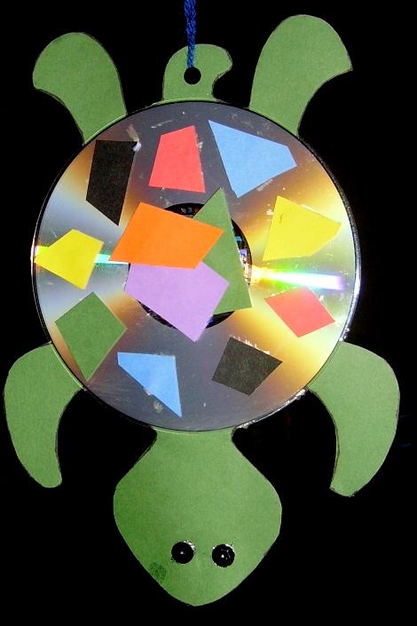 Hanging CD Turtle