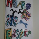 happy easter card bow 1