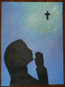 children praying-8-girl-glue on silhouette3